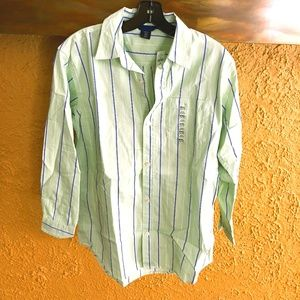 Gap Mint Green striped Collared Shirt
